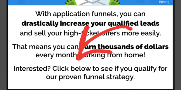 Keep Application Page Copy Simple to Qualify Leads min