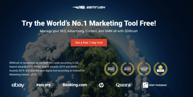SEMrush pre sell page
