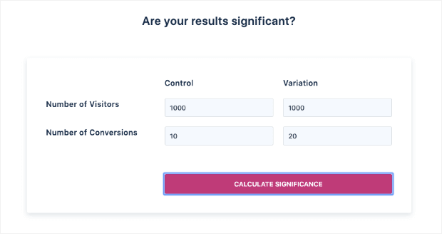 VWO Significance Calculator