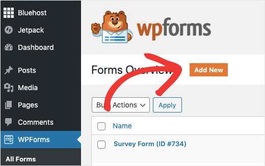 WPForms Add New