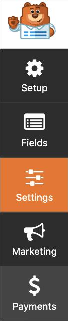 WPForms menu min