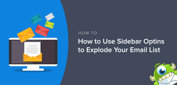 how to use sidebar optins
