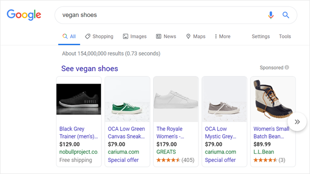 example of google shopping ads