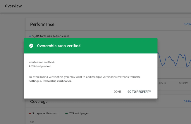 ownership-will-be-auto-verified-by-google-search-console