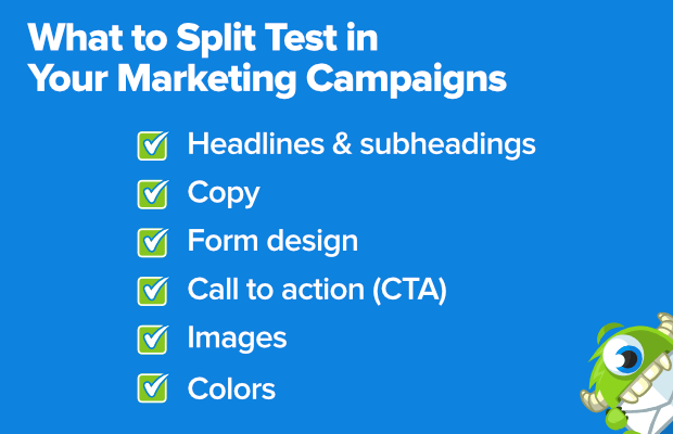 what to split test in your marketing campaigns
