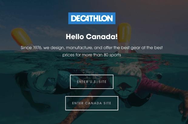 Decathlon Popup
