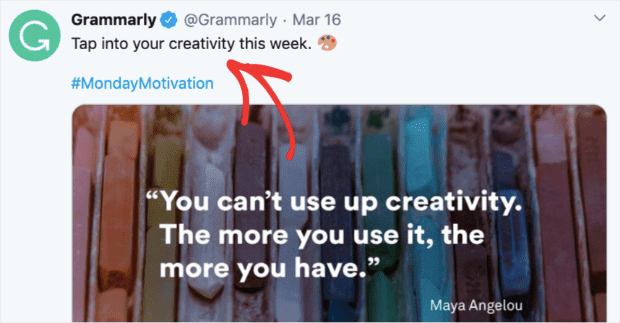 Gramarly call to action