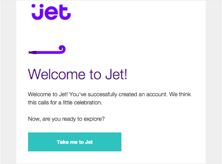 Jet transactional email example