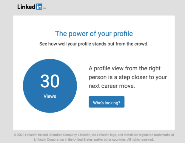 LinkedIn transactional emails min