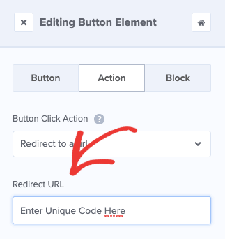 Redirect URL with Coupon URL