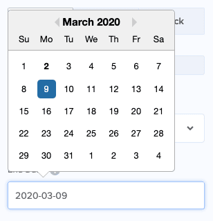Select the date for your countdown timer