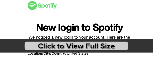 New Spotify Login