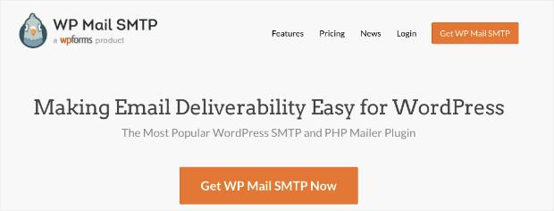 Page d'accueil de Wp Mail SMTP