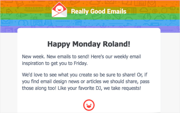 happy monday transactional email min