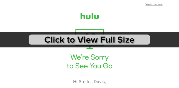 hulu transactional email example min