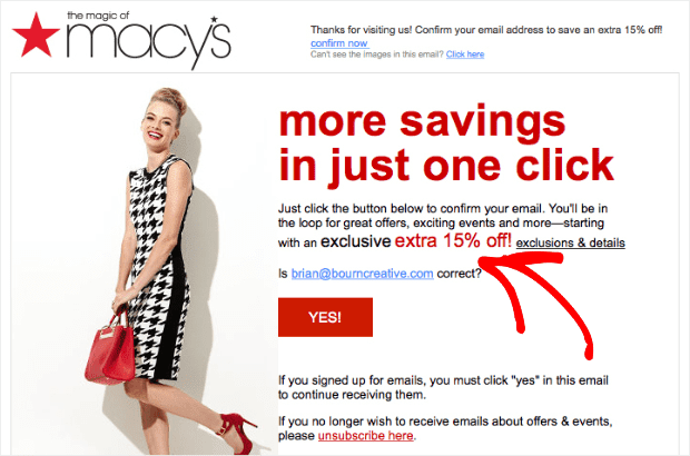 macys transactional email example min