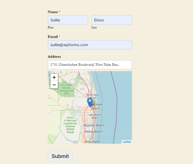 wpforms geolocation data addon