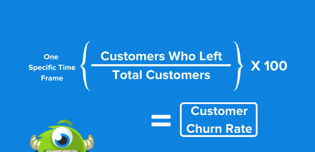 Reduce customer churn: churn analysis formula