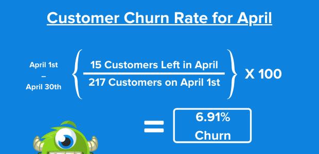 reduce customer churn formula example
