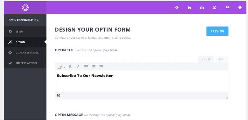 Bloom Design your optin form min