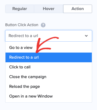 Button Click Action redirect to a URL min