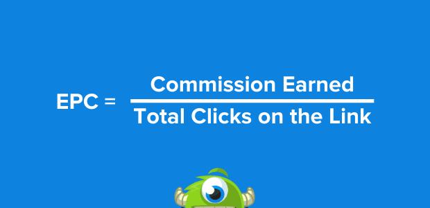 Calculate earnings per click