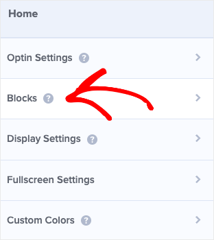 Click blocks to add a button
