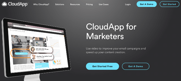 CloudApp sales page