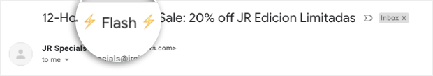 Flash Sale Subject Line with Emojis