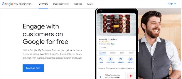 Google My Business homepage min