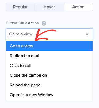 No Button Action - Go to a view