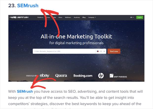 SEMrush affiliate example min