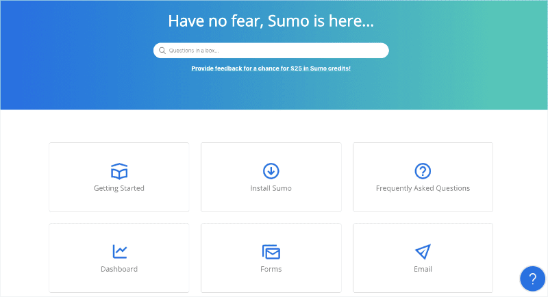 Sumo help and support center min