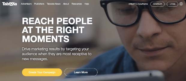 Taboola Homepage