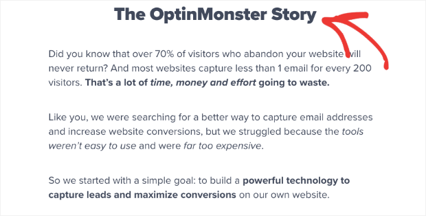 The OptinMonster story- Storytelling
