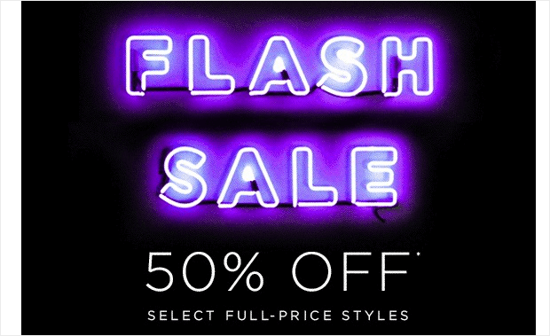 What is a flash sale_ Flash Sale neon lights