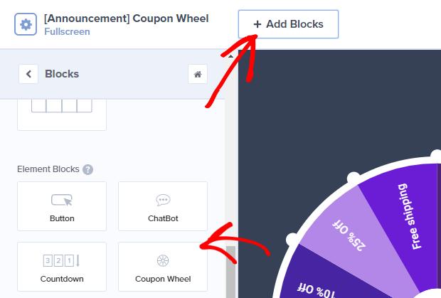 coupon wheel block