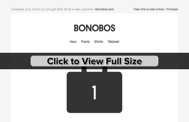 bonobos email marketing example