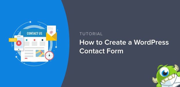 how to create a wordpress contact form