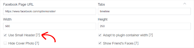 choose other facebook display settings