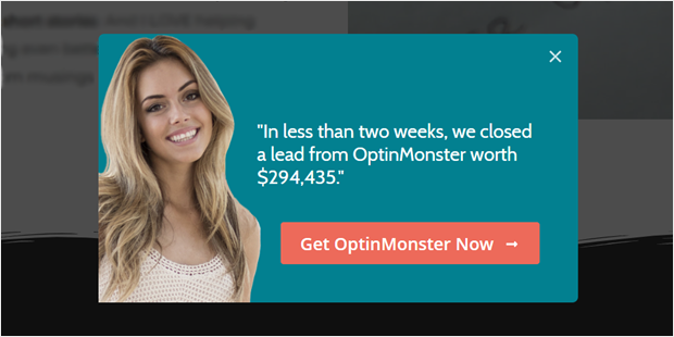 make money with optinmonster by showing testimonials