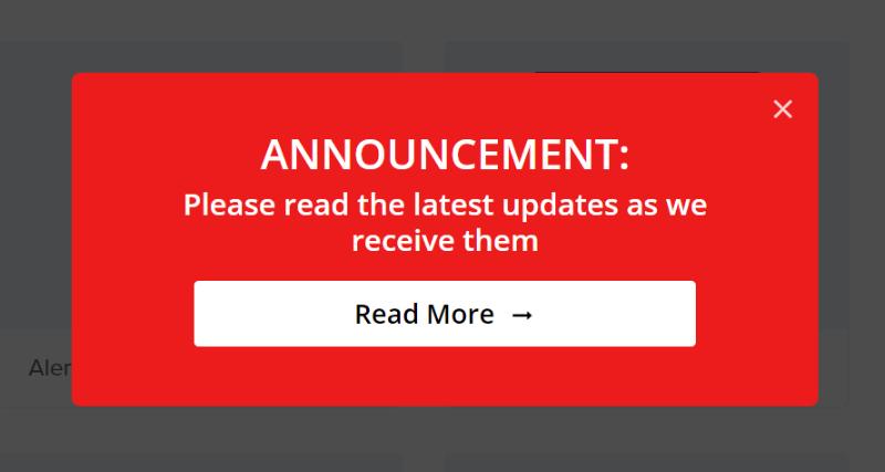 alert template