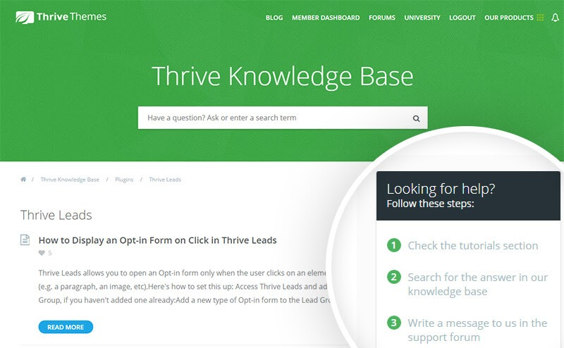 thrive knowledgebase