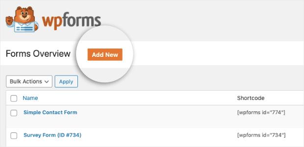 Add new WPForm min