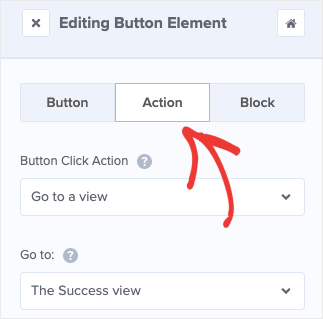 Button Action in OM Editor