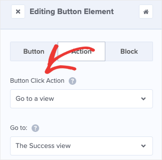 Button Click Action in OM Editor
