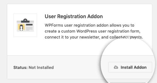 Install Addon fro User Registration min