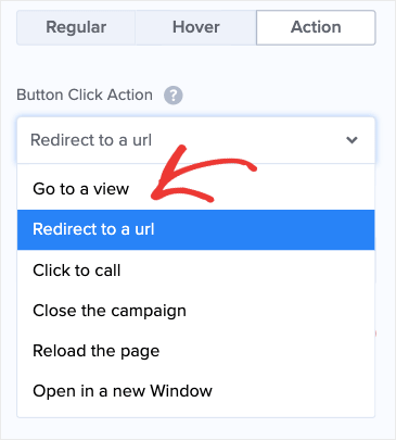 Redirect to a URL for the No Button