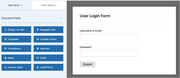 User Login Form Template min