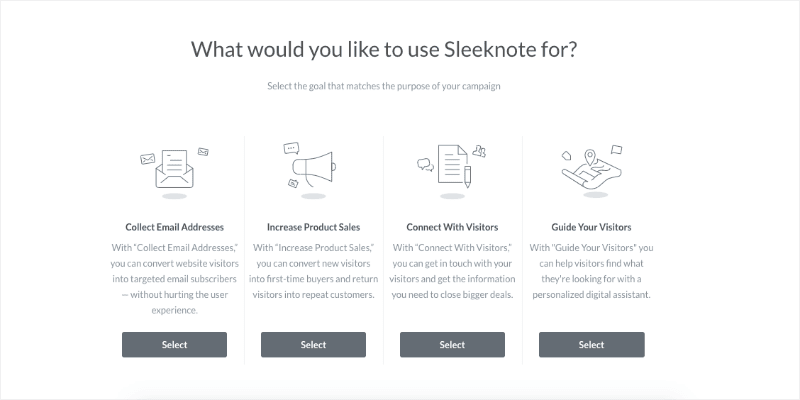 What do you want to use Sleeknote for